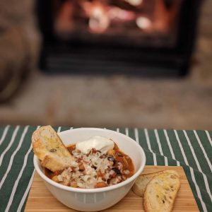 Chili by the fire